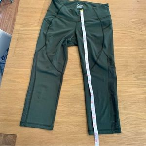 Old Navy mesh olive workout tights